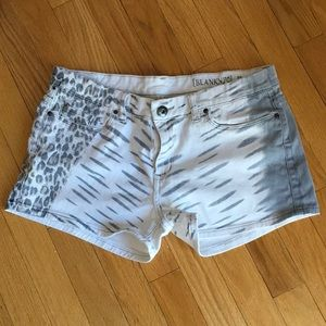 BLANK NYC Animal Print Denim Shorts